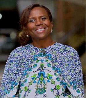 Deborah's white floral blouse on Good Morning America