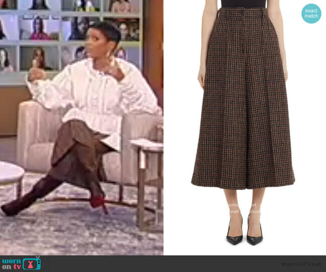 Wool-Blend Check Culottes by Dolce and Gabbana worn by Tamron Hall  on Tamron Hall Show
