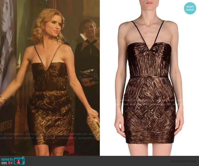 Cocktail Dress by Dsquared2 worn by Carlson Young on Emily in Paris