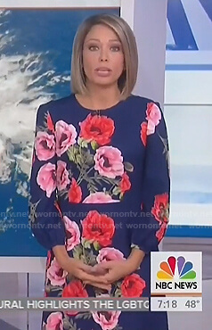 Dylan's blue floral dress on Today