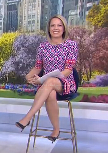 Dylan's pink mixed print dress on Today