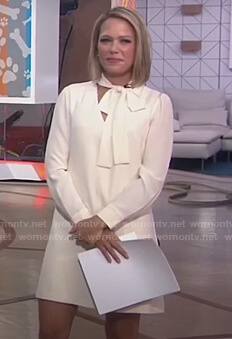 Dylan's white tie neck dress on Today