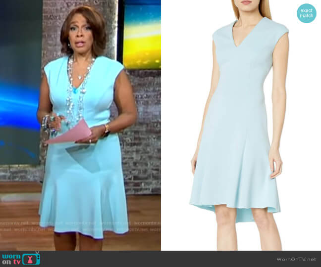 Moriah Dress by Elie Tahari worn by Gayle King  on CBS This Morning