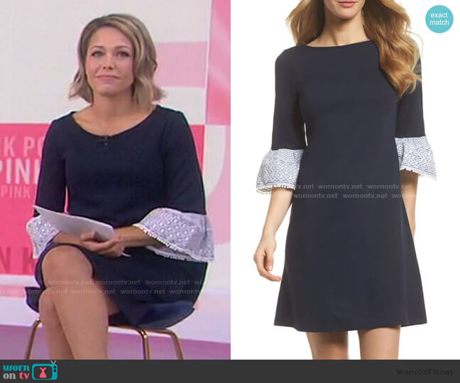 Flare Cuff Shift Dress by Eliza J worn by Dylan Dreyer  on Today