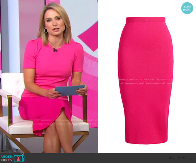 Jacqui Sweater Skirt - Eva Mendes Collection by New York & Company worn by Amy Robach  on Good Morning America
