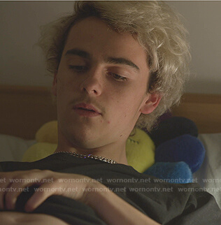 Fraser's rainbow flower pillow on We Are Who We Are