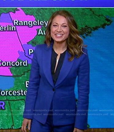 Ginger's blue suit on Good Morning America