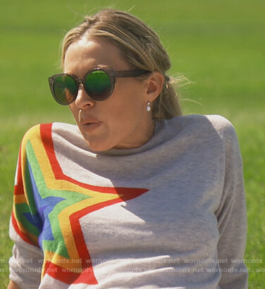 Braunwyn's rainbow star sweatshirt on The Real Housewives of Orange County