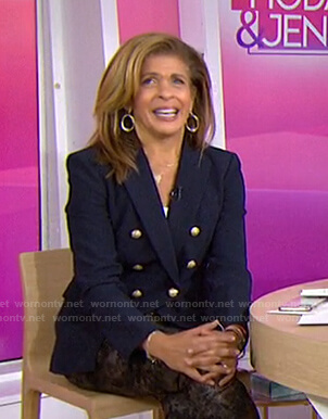 Hoda's navy I heart NY blazer on Today
