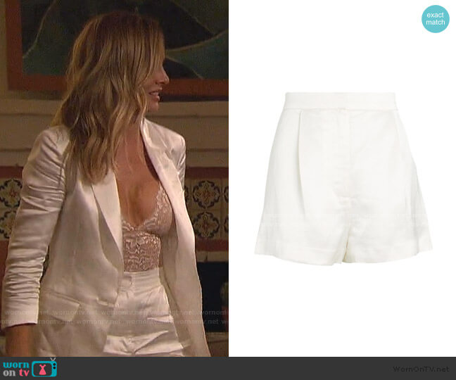 Eden Satin Shorts by Intermix worn by Clare Crawley  on The Bachelorette