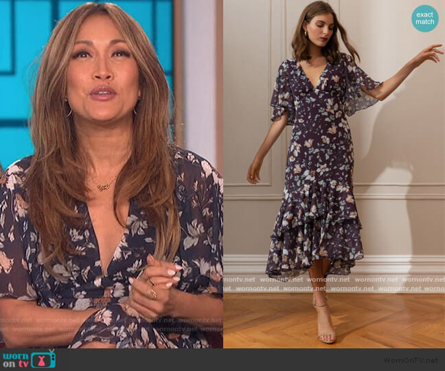 Sonia Dress by Jenny Yoo worn by Carrie Inaba  on The Talk