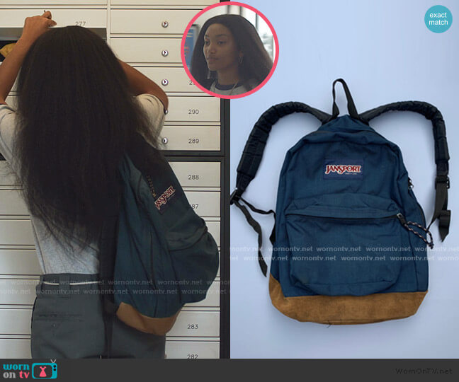 90s Vintage Backpack by Jansport worn by Caitlin Poythress (Jordan Kristine Seamón) on We Are Who We Are