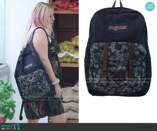 Backpack Floral Print Backpack by Jansport worn by Britney (Francesca Scorsese) on We Are Who We Are