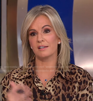 Dr. Jennifer Ashton's leopard print blouse on Good Morning America
