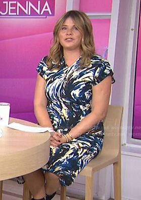 Jenna's abstract print short sleeve dress on Today