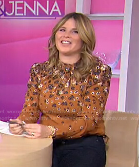 Jenna's orange floral blouse on Today