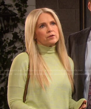 Jennifer's yellow turtleneck sweater on Days of our Lives