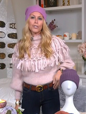 Jill's pink tassel sweater on Today