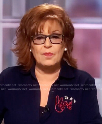 Joy's blue Vote shirt on The View