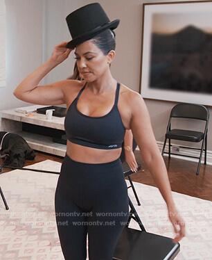 Kourtney's Reebok sports bra on Keeping Up with the Kardashians