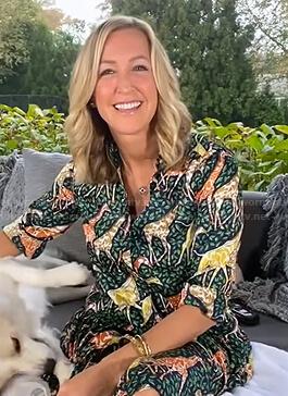 Lara's green giraffe print shirtdress on Good Morning America