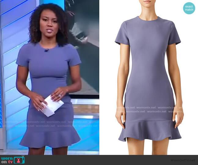 Beckett Ruffle Hem Dress by Likely worn by Janai Norman  on Good Morning America
