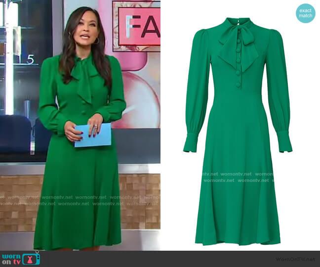 Mortimer Dress by L.K. Bennett worn by Eva Pilgrim  on Good Morning America