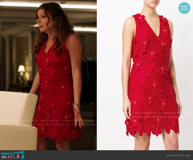 MICHAEL Michael Kors Floral Applique Dress worn by Rose Monreaux (Aubrey Dollar) on Filthy Rich