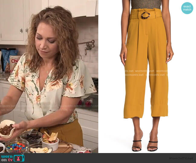 Belted Wide Leg Pants by Moon River worn by Ginger Zee  on Good Morning America