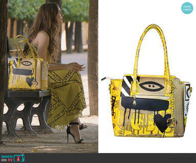 Canary Bag by Patricia Field worn by Emily Cooper (Lily Collins) on Emily in Paris