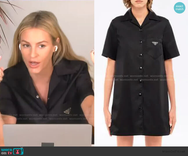 Logo Shirt Dress by Prada worn by Morgan Stewart  on E! News