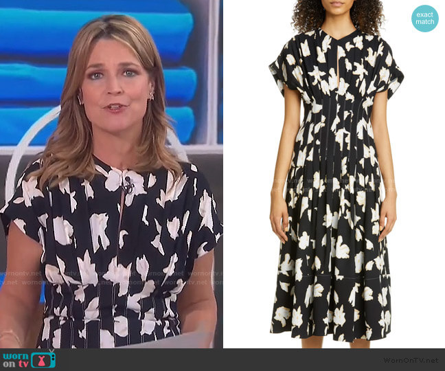 Iris Print Georgette Dress by Proenza Schouler worn by Savannah Guthrie  on Today
