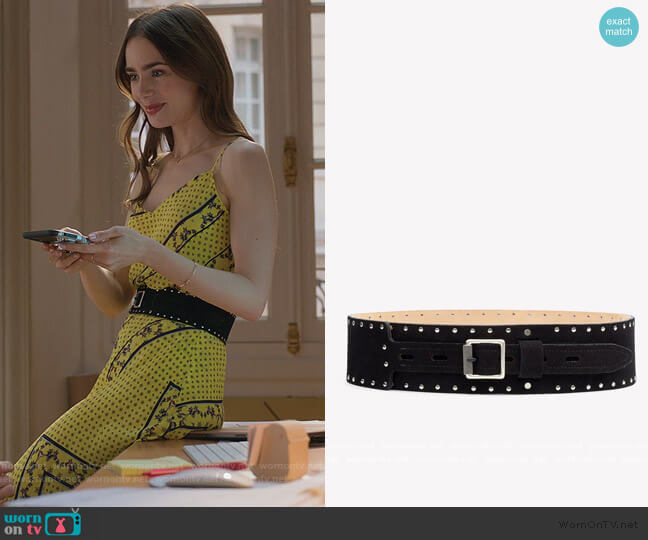 Field Waist Belt by Rag and Bone worn by Emily Cooper (Lily Collins) on Emily in Paris