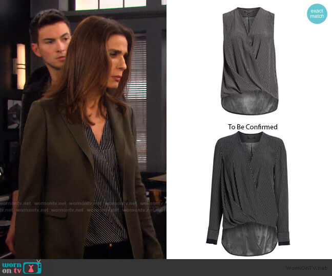 Victor Blouse by Rag & Bone worn by Hope Williams (Kristian Alfonso) on Days of our Lives
