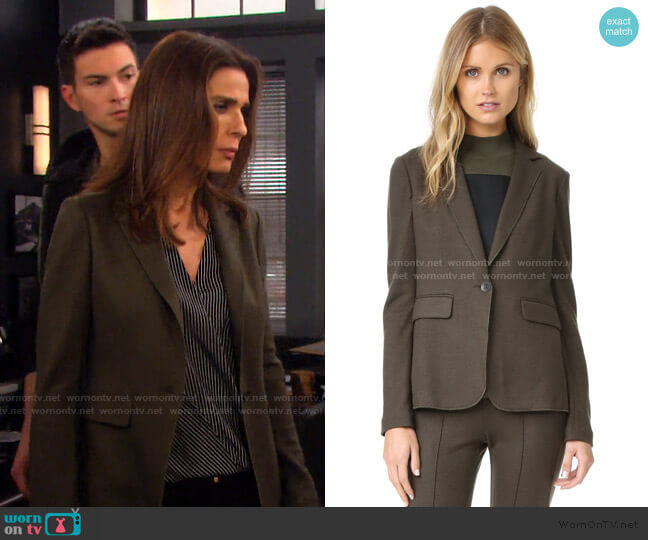 Club Jacket by Rag & Bone worn by Hope Williams (Kristian Alfonso) on Days of our Lives