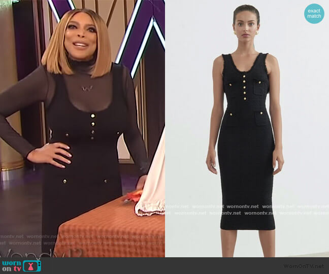 Nina Dress by Ronny Kobo worn by Wendy Williams  on The Wendy Williams Show