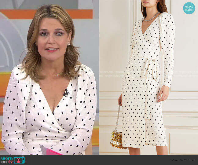 Bridget Polka-Dot Wrap Midi Dress by Rotate worn by Savannah Guthrie  on Today