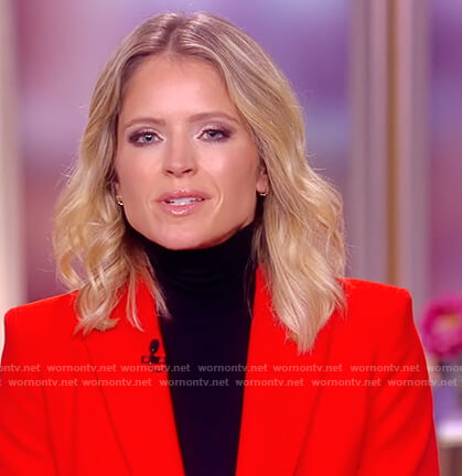 Sara's red double breasted blazer on The View