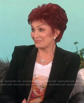 Sharon's Marilyn Monroe graphic tee on The Talk