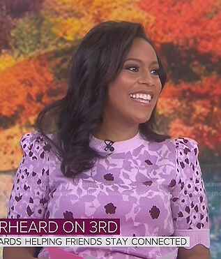 Sheinelle's pink floral sweater on Today