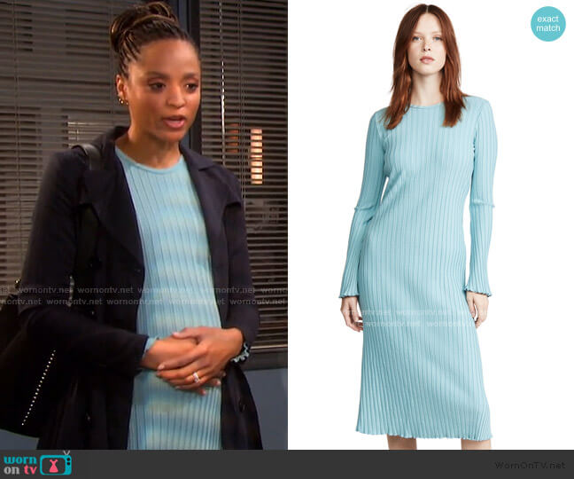 Rib Wells Dress by Simon Miller worn by Lani Price (Sal Stowers) on Days of our Lives