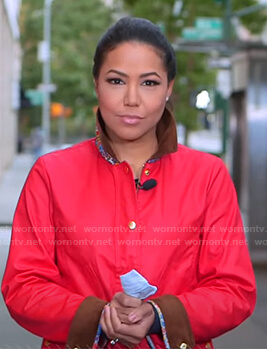 Stephanie Ramos's red jacket on Good Morning America