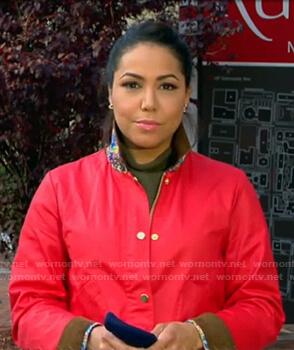 Stephanie Ramos's red jacket on Good Morning America