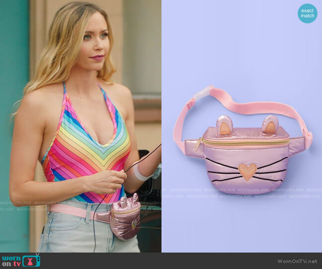 Target More than Magic Iridescent Cat Bag worn by Rachel (Aqueela Zoll) on Filthy Rich
