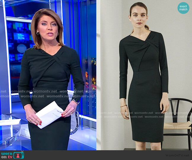 Ellingham Dress by The Fold London worn by Norah O'Donnell  on CBS Evening News