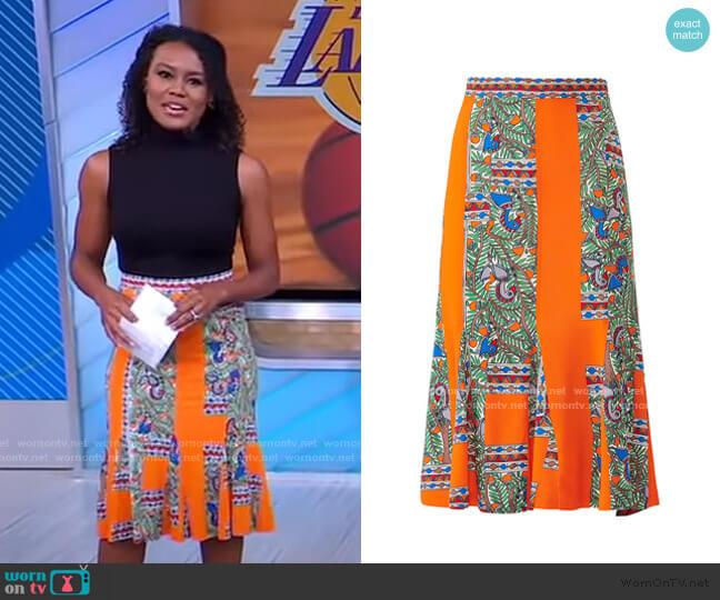 Jada Skirt by Tory Burch worn by Janai Norman  on Good Morning America