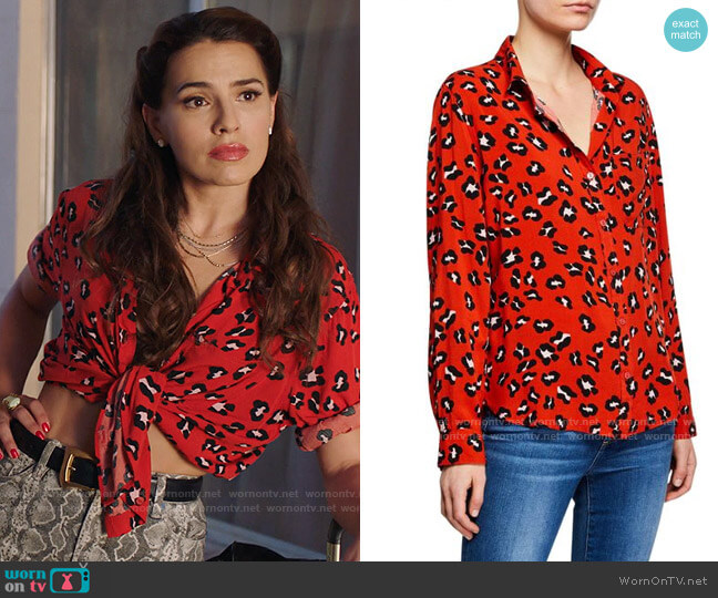 Velvet Heart Elisa Shirt worn by Ginger Sweet (Melia Kreiling) on Filthy Rich