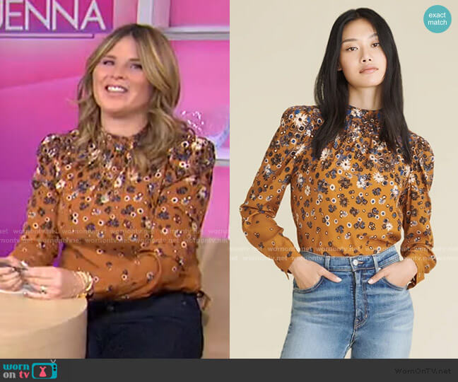Fey Floral Blouse by Veronica Beard worn by Jenna Bush Hager  on Today