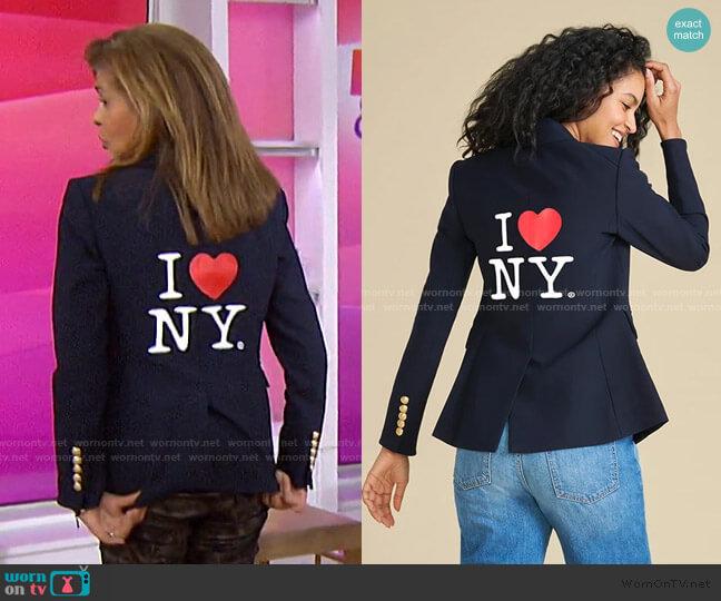 I Heart NY Dickey Jacket by Veronica Beard  worn by Hoda Kotb  on Today