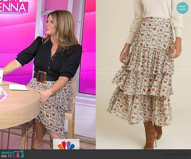 Shailene Paisley Skirt by Veronica Beard worn by Jenna Bush Hager  on Today